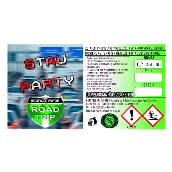 Twisted - Road Trip Aroma Stauparty - 10ml