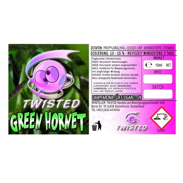 Twisted - Green Hornet Aroma - 10ml