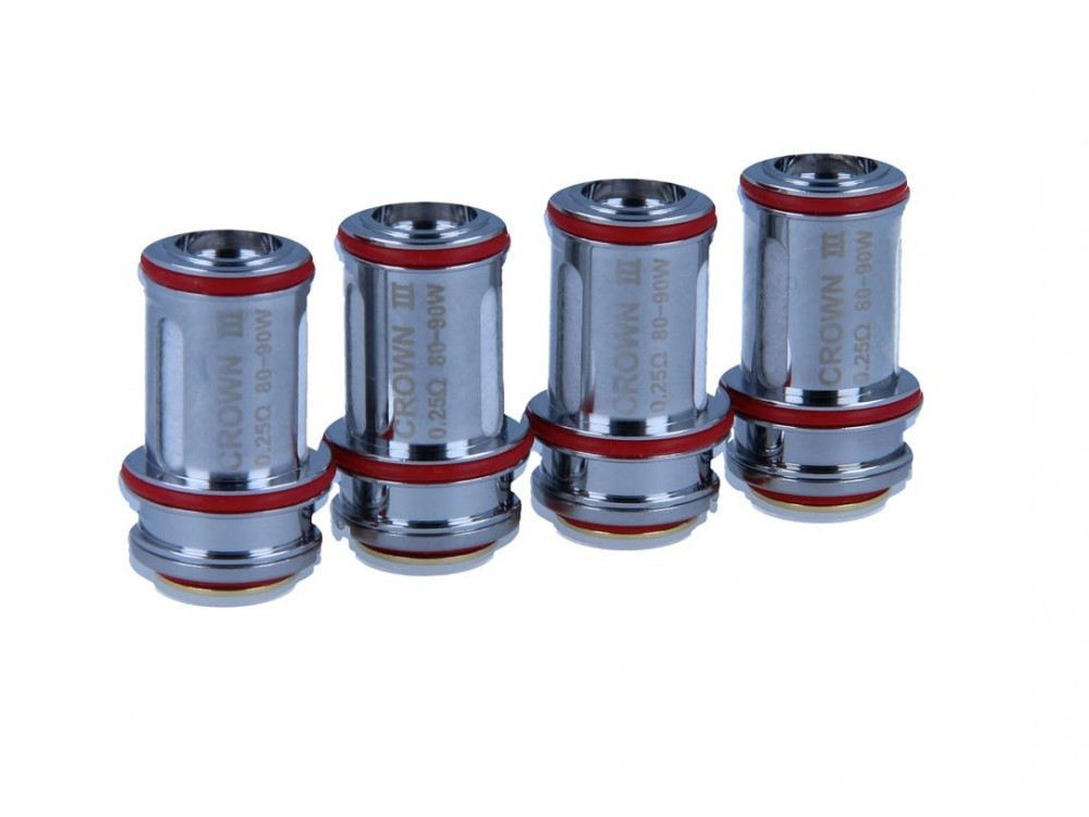 Uwell Crown 3 Parallel SUS316 Heads 0,25 Ohm (4 Stück pro Packung)